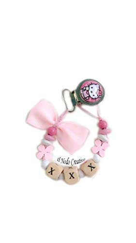 Cadena de chupete Hello Kitty | nombre adaptable: Amazon.es: Handmade