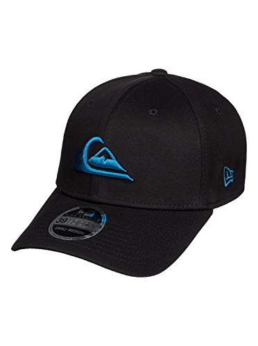 (Quiksilver Young Men's Mountain & Wave Black Stretch FIT HAT Hat, Crystal Teal, M/L)
