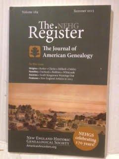 The NEHG Register Volume 169 Summer 2015