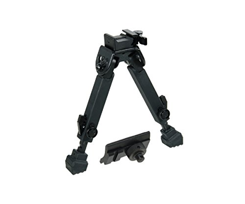 "UTG Rubber Armored Full Metal QD Bipod, Height 6.0""- 8.5"""