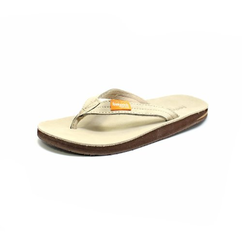 b9bfb6be72db Feelgoodz Womens Leather Flip Flop Slim Kinderz (5-7