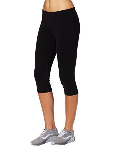 Aenlley Women's Activewear Capri Legging Workout Gym Spanx Yoga Pants Tights Color Black Size M