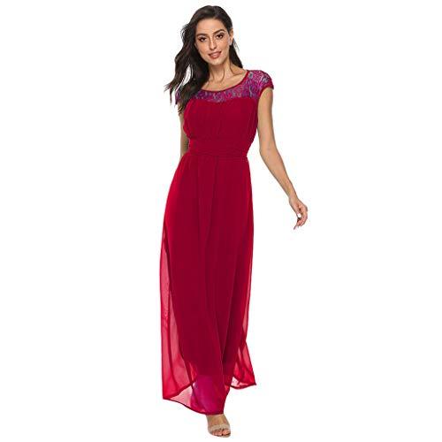 Ls Home Retro Shirt - ⚡HebeTop⚡ Women's Retro Lace Vintage Short Sleeve Slim Ruched Wedding Maxi Dress Red