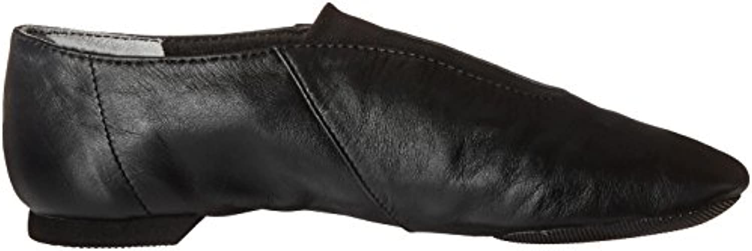 cp05 capezio show stopper jazz adult size black leather split sole pull on (us 4 uk 2)
