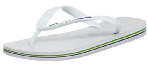 Havaianas Brasil Logo Bianco Uomo Donna Unisex Summer BeachFlip Flops