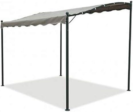 Cenador pérgola de pared de 3 x 2, 5 m fabricado en hierro y metal ...