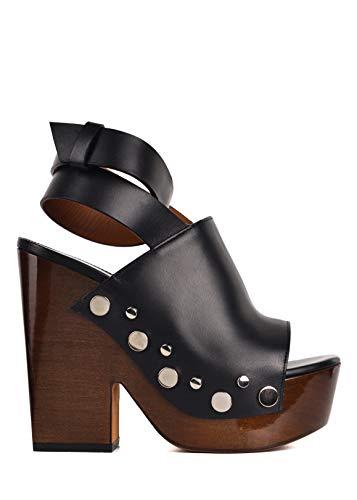 Givenchy Womens Black Leather Studded Clog Platform Sandals IT37/US7~RTL$995
