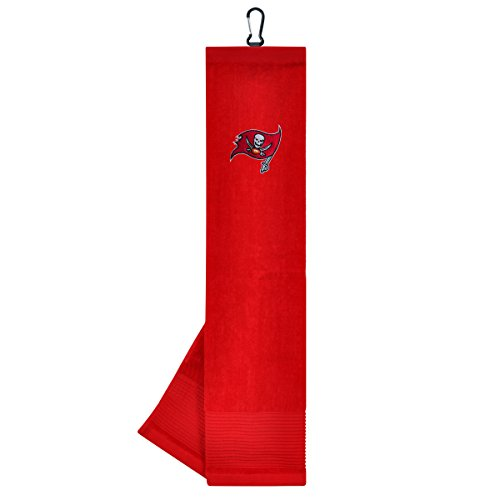 - Team Effort NFL Tampa Bay Buccaneers Face/Club Tri-Fold Embroidered Towel
