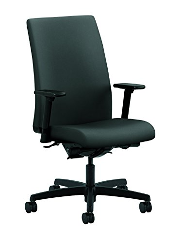 (HON Ignition Series Mid-Back Work Chair - Upholstered Computer Chair for Office Desk, Iron Ore (HIWM3))