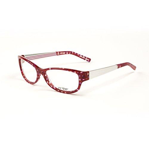 2d615f198b3 J.F. Rey Eyeglass Frames 54.5mm Fuschia Check Aluminum