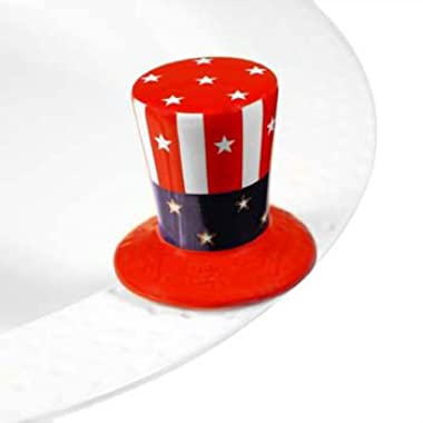 Nora Fleming Uncle Sam Hat Mini - Nora Fleming Home of the Free Mini A53