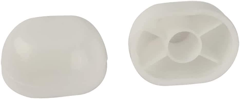 Lincoln Products LIN100879 Oval Toilet Bolt Caps44; White - Pack of 2