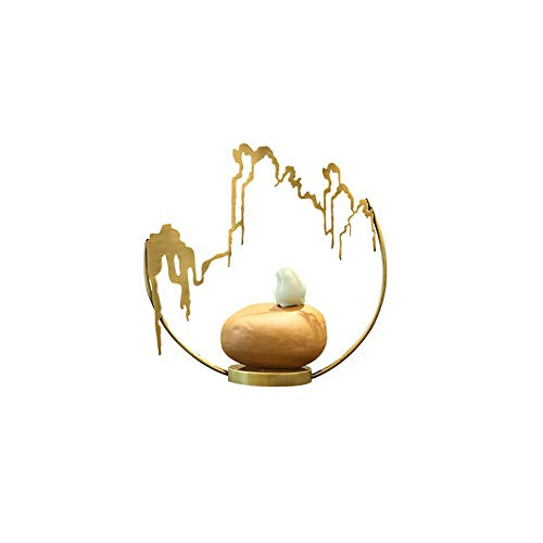 New Chinese Decoration Creative Home Living Room Entrance Study Ceramic Bird Hotel Personality Wine Cooler Crafts Desktop Sculpture Arrangement TV Cabinet Sample Bracket Display Stand ( Design : A ()