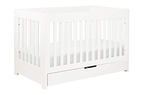 Babyletto Mercer 3-in-1 Convertible Crib with Toddler Bed Conversion Kit, White