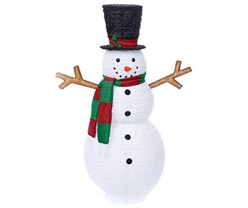 WWL 60 Inch Tall - Light-Up Holiday Pop-Up Frosty The Snowman - Pre-Lit