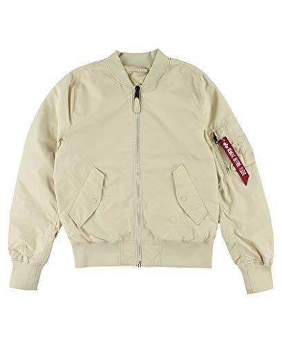 (Alpha Industries Men's L-2B Scout Flight Jacket, Vintage White M)