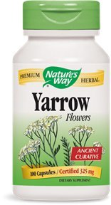 Nature's Way Yarrow Flowers 325 Mg, 100 Vcaps, 100 Count
