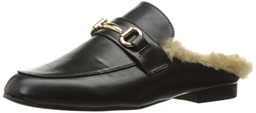 Steve Madden Women's Jill Slip-on Loafer, Black Leather, 7.5 M US