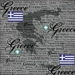 Scrapbook Customs - World Collection - Greece - 12 x 12 Paper - Scratchy