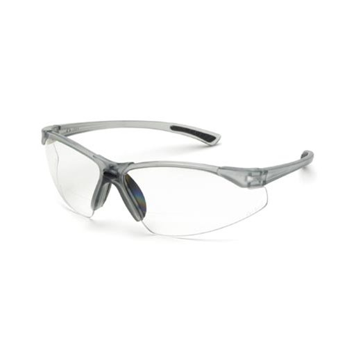 Elvex RX-200 Bifocal Safety Reading Glasses : +2.0 Diopters Clear Box of 12