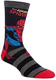Men's 1 Pair SockShop Marvel Comics Hulk Spider-Man Iron Man and Wolverine Socks