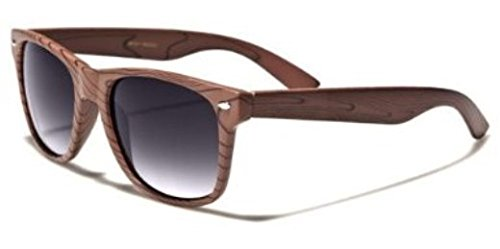 Retro Style Wood Grain Gradient Lens Sunglasses