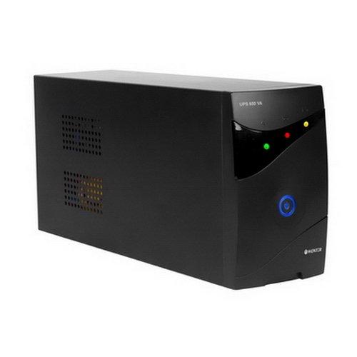 Woxter UPS 650 VA - Sistema de alimentació n ininterrumpida (600VA/300 watts, Autonomí a aprox 8 minutos), color negro Autonomía aprox 8 minutos) PE26-062