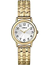 Timex Carriage Women's Gold-tone Round Case Stainless Steel Expansion Band Watch