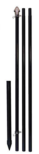 Flags Importer 10ft w/Ground Spike (Black) Outdoor Pole