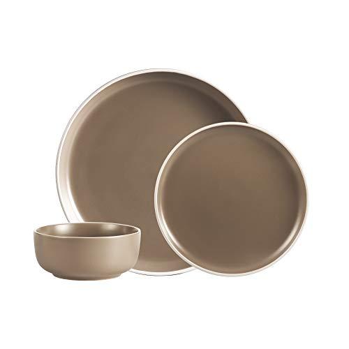 Safdie & Co. Dinnerset Premium Dinnerware Set, 12Pcs, Beige