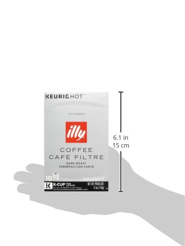 Illy K-Cup Pods, Dark Roast, 10 Count
