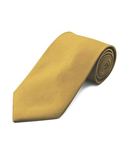 Umo Lorenzo Men's Poly Solid Satin Tie + Gift Box
