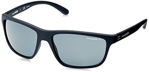 Arnette Men's Booger Polarized Rectangular Sunglasses, MATTE BLACK, 61.0 mm
