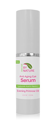 By Nature Organic Under Eye Serum with Vitamin E, White Tea & Rose Oil Reduces Wrinkles, Bags, Dark Circles, Puffiness & Fine Lines Around and Under Eyes - The Best Natural Face Serum Cream