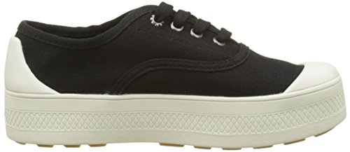 Palladium Sub Low Canvas, Baskets Femme Noir (Black/Marshmallow 585)