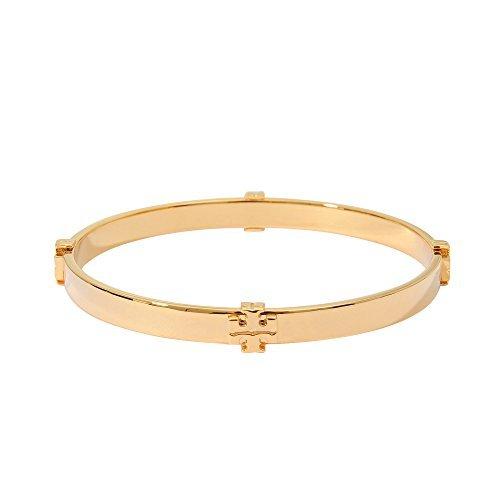 Tory Burch 11145909 720 Gold-Tone T Logo Bangle Bracelet