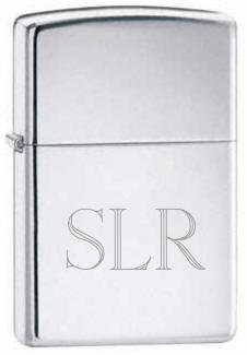 Zippo Favors (Groomsman Personalizied Zippo Chrome Silver Pocket Lighter Free Engraving)