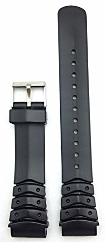 20mm Black Watch Band | Comfortable and Durable PVC Material Replacement Wrist Strap Bracelet for Men and - Pvc Bracelets Mens