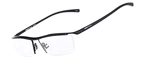 Bertha Men Z Pure Titanium Semi-rimless Eyeglasses Business Optical Frame 8189 - Glasses Titanium Prescription