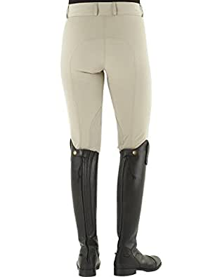 Ovation Women's Celebrity Slimming Knee Patch Dx Breeches Beige 26 R US