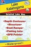 Fishing Hot Spots Map of Lake Kabetogema