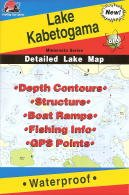 Fishing Hot Spots Map of Lake Kabetogema