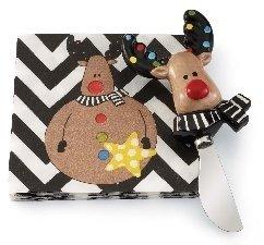 Mudpie~ Reindeer Napkin and Spreader Set