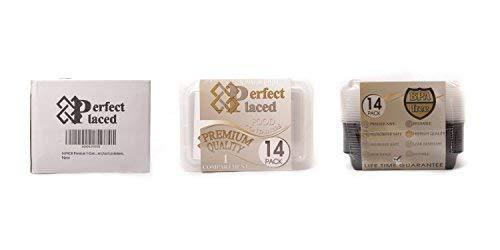 Contenitori Alimentari 3 Scomparti Per Alimenti Bento Box Adatti a Congelatore Lunch Box Riutilizzabili di Plastica Con Coperchio Impilabili Microonde e Lavastoviglie Senza BPA Ebook 14 pz
