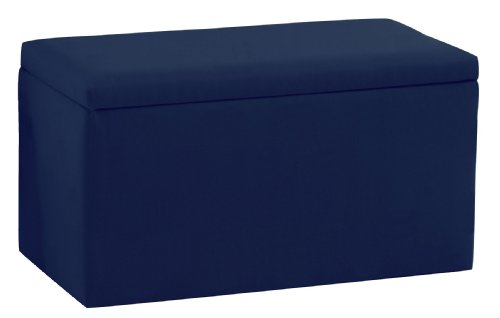 Smarty Pants Kid'S Storage Bench By Skyline Furniture In Navy Cotton by Skyline Furniture