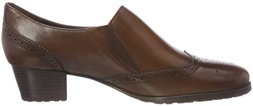 Cerrada Punta Sioux Zapatos para Tacón 003 Cognac Mujer con de Marrón Fereila YfCRxCnwq6