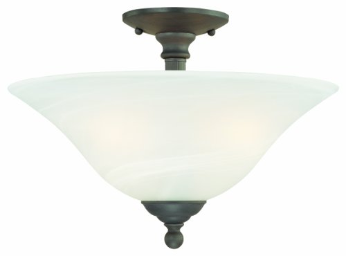 Thomas Lighting SL869663 Riva Collection 3 Light Semi-Flush, Painted Bronze
