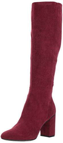 Kenneth Cole REACTION Women's Time to Step to The Knee Boot Microfiber Riding Burgundy