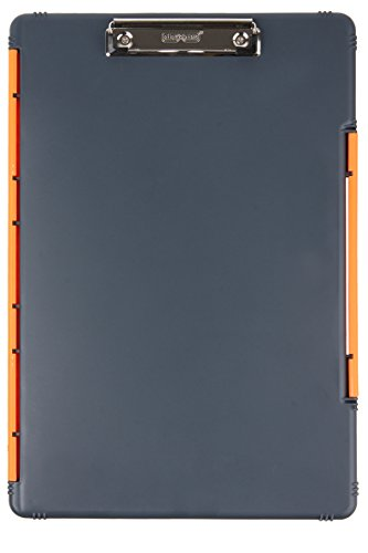 Dexas XL Legal Size Slimcase Storage Clipboard, Gray with Orange Clip