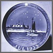 1935 Royal Copenhagen Christmas Plate Kronborg Castle